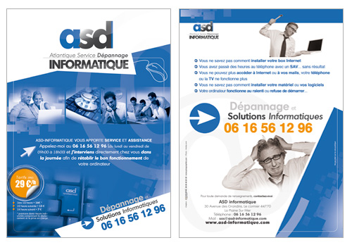 Flyer publicitaire ASD Informatique